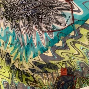 Missoni psychedelic silk scarf